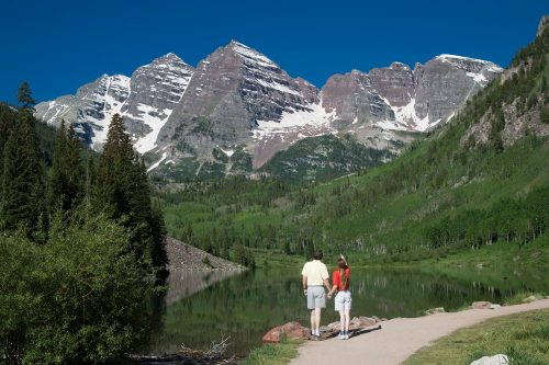 Maroon bells after a weekend marriage retreat