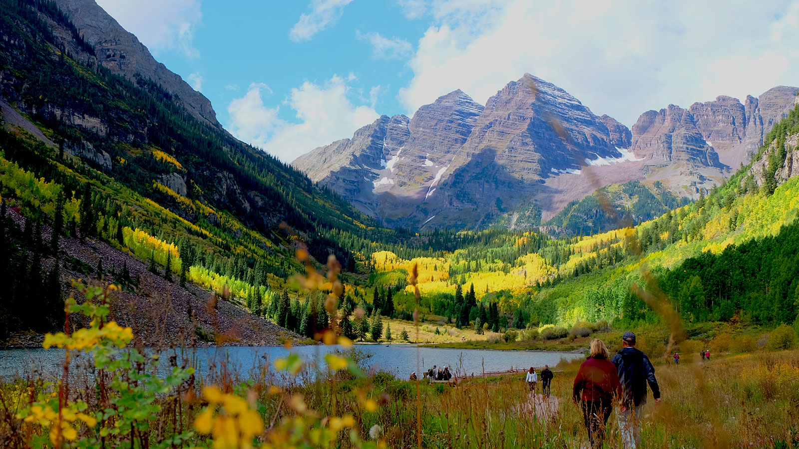 Happily counseled couple sees the Maroon Bells