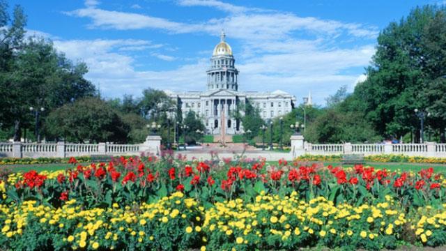 The Colorado State Capitol in Denver