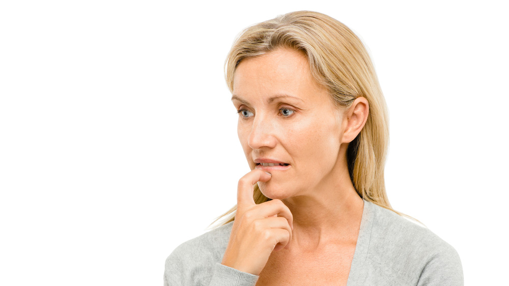 Worried middle-aged woman
