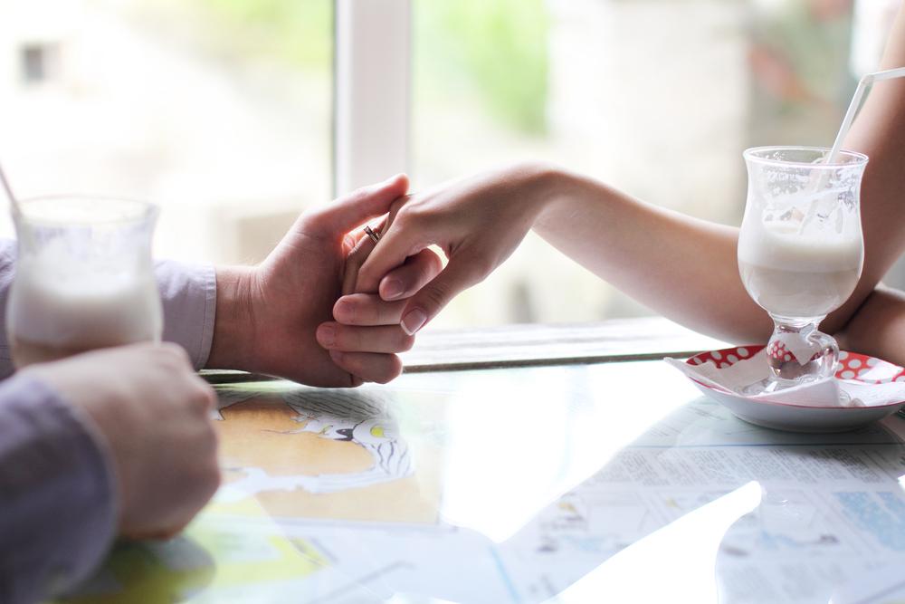 Romantic Valentine gesture hand held