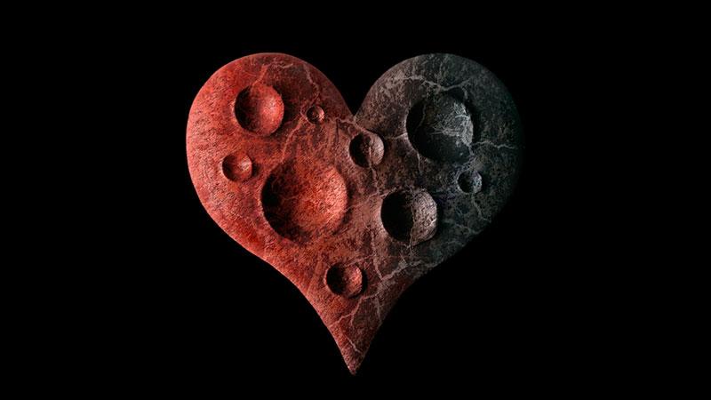 Heart as a lifeless planet