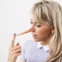 Lying woman