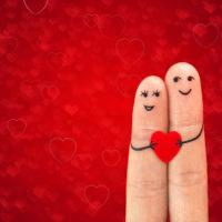 Couple fingers in love