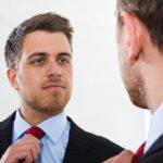 Narcissist admiring himself