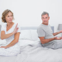 Wife irritated, husband annoyed