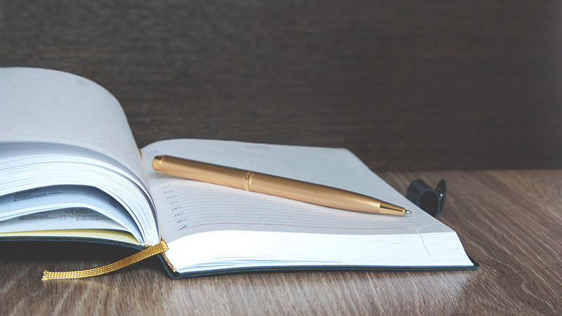 Classy notebook and pen